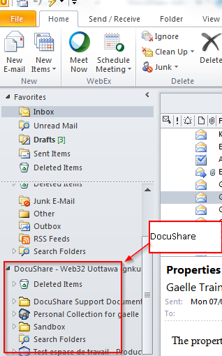 DocuShare & Outlook