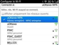 Accédez au réseau sans fil uOttawa-WPA avec BlackBerry OS 6 et 7 - étape 10