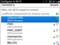 Accédez au réseau sans fil uOttawa-WPA avec BlackBerry OS 6 et 7 - étape 4