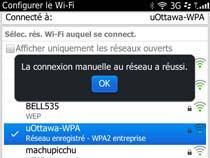 Accédez au réseau sans fil uOttawa-WPA avec BlackBerry OS 6 et 7 - étape 9