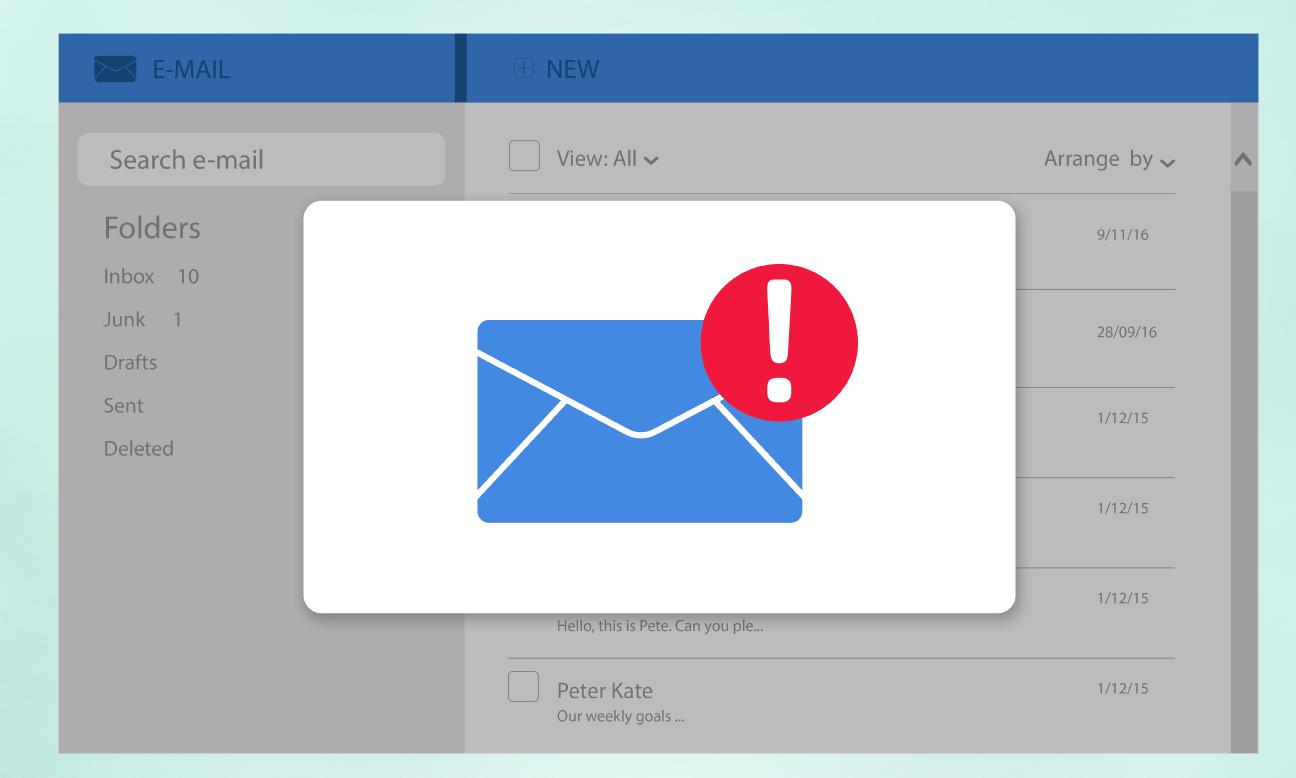 Notification de courriel