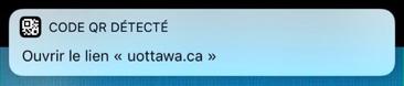 iOS 11, Lecture des QR codes