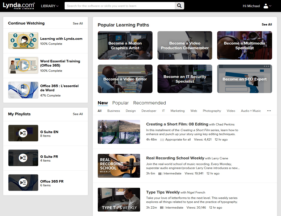 home page for uOttawa IT staff