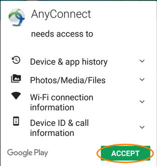 Installing and Configuring AnyConnect for android, Any connect app
