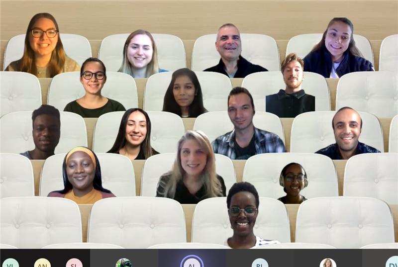 Capture d'écran de la réunion vidéo de l'équipe