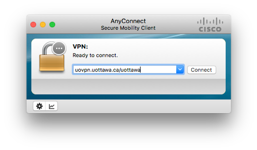 screenshot of AnyConnect VPN connect