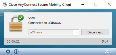 Disconnecting from the uOttawa VPN