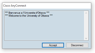 Connecting to uOttawa VPN, step 5, click accept