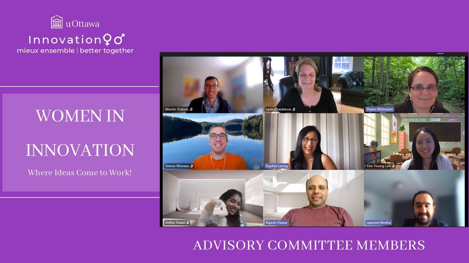 Comité consultatif Femmes en innovation - juin 2021